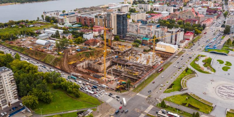 Аэросъемка строительства в Екатеринбурге